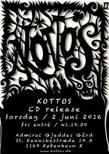 Koncert – KOTTOS cd-release 2. juni 2016 kl. 19.30